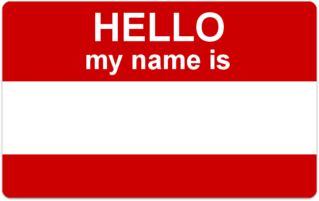 "This example adds a sample name to the ""Hello, my name is"" card in a handwritten bold open-source Google Fonts typeface Kavivanar. Please note that custom fonts take some time to load. If the font does not appear at first, try moving the label to update it."
