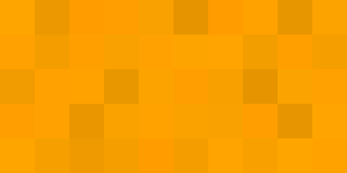 This example generates a random image with orange color shades. Each pixel color is randomly lightened or darkened by 10%, resulting in a nice palette of orange colors. Juicy!